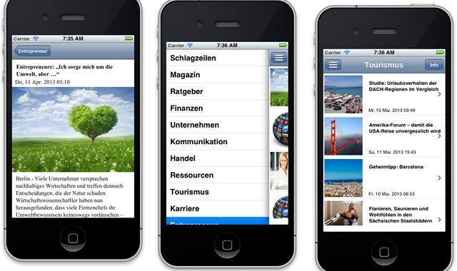 iPhone App von wirtschaft.com